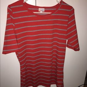 Red and Grey striped Gracie